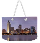 San Diego Skyline At Dusk Panoramic Weekender Tote Bag