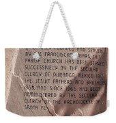 San Felipe De Neri Weekender Tote Bag