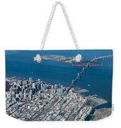 San Francisco Bay Bridge Aerial Photograph Weekender Tote Bag