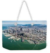 San Francisco Bay Piers Aloft Weekender Tote Bag