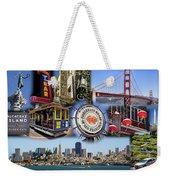 San Francisco Collage Weekender Tote Bag