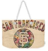 San Francisco Giants Logo Vintage Weekender Tote Bag