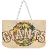 San Francisco Giants Poster Art Weekender Tote Bag