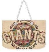 San Francisco Giants Poster Vintage Weekender Tote Bag