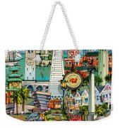 San Francisco Illustration Weekender Tote Bag