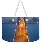 San Francisco - Oakland Bay Bridge Weekender Tote Bag