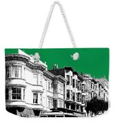 San Francisco Skyline Cable Car 2 - Forest Green Weekender Tote Bag