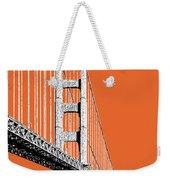 San Francisco Skyline Golden Gate Bridge 2 - Coral Weekender Tote Bag