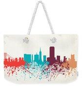 San Francisco Skyline Paint Weekender Tote Bag