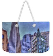 San Francisco Transamerica Pyramid And Columbus Tower View From North Beach Weekender Tote Bag