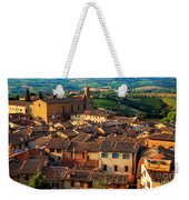 San Gimignano From Above Weekender Tote Bag by Inge Johnsson
