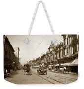 94-095-0001 Early Knox Automobile First Street San Jose California Circa 1905 Weekender Tote Bag