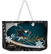 San Jose Sharks Christmas Weekender Tote Bag