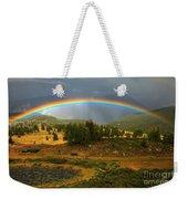 San Juan Mountains Rainbow Weekender Tote Bag