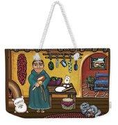 San Pascuals Kitchen Weekender Tote Bag by Victoria De Almeida