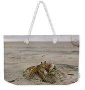 Sand Crab Weekender Tote Bag by Nelson Watkins
