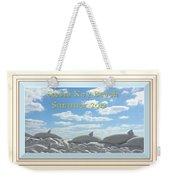 Sand Dolphins - Digitally Framed Weekender Tote Bag