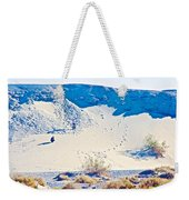 Sand Dune Bordering Salt Creek Trail In Death Valley National Park-california Weekender Tote Bag