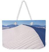 Sand Dunes In A Desert, White Sands Weekender Tote Bag