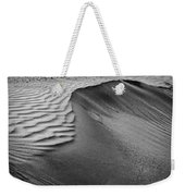 Sand Pattern Abstract - 2 - Black And White Weekender Tote Bag