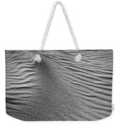 Sand Pattern Abstract - 3 - Black And White Weekender Tote Bag