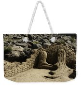 Sand Sculpture Dragon With Flaming Nostrils Weekender Tote Bag