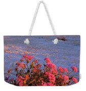Sand Verbenas At Sunset White Sands National Monument Weekender Tote Bag