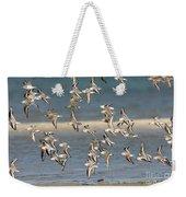 Sanderlings And Dunlins In Flight Weekender Tote Bag