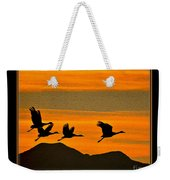 Sandhill Crane At Sunset Weekender Tote Bag