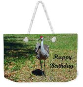 Sandhill Crane Birthday Weekender Tote Bag