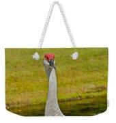 Sandhill Crane Face-on Weekender Tote Bag