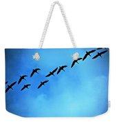 Sandhill Crane Flyover Weekender Tote Bag