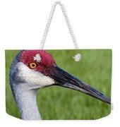 Sandhill Crane Portrait Weekender Tote Bag