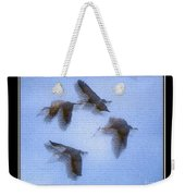 Sandhill Cranes In Flight Weekender Tote Bag