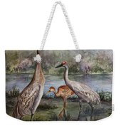 Sandhill Cranes On Alert Weekender Tote Bag