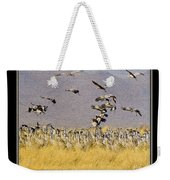 Sandhill Cranes On The Ground Weekender Tote Bag