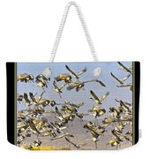 Sandhill Cranes Startled 2 Weekender Tote Bag