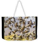 Sandhill Cranes Startled Weekender Tote Bag
