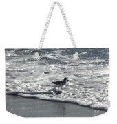 Sandpiper In The Surf Weekender Tote Bag