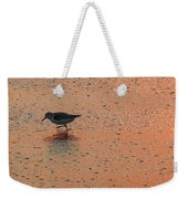Sandpiper On Shoreline Weekender Tote Bag