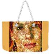 Sandra Bullock In The Way Of Arcimboldo Weekender Tote Bag