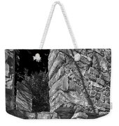 Sandstone Arch Jerome Black And White Weekender Tote Bag