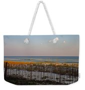 Sandy Beach And Three Tiny Clouds Weekender Tote Bag