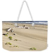 Sandy Beach On Pacific Ocean In Canada Weekender Tote Bag