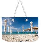 Sandy Beach Umbrellas Weekender Tote Bag