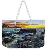 Sandy Beach Sunrise Weekender Tote Bag