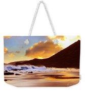 Sandy Beach Sunset Weekender Tote Bag