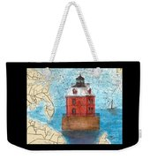 Sandy Pt Shoals Lighthouse Md Nautical Chart Map Art Cathy Peek Weekender Tote Bag