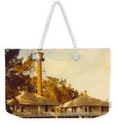 Sanibel Lighthouse Landscape Weekender Tote Bag
