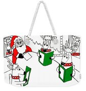 Santa And Reindeer Conference Weekender Tote Bag